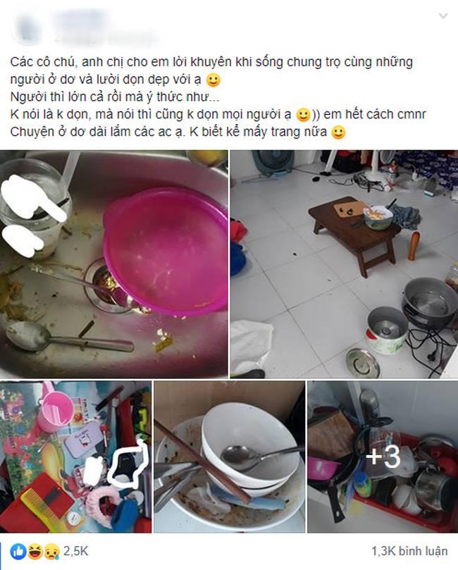 Lại xuất hiện những hình ảnh ở bẩn bất chấp khiến dân mạng lắc đầu chán ngán: Nhà cửa không quét, bát đĩa bốc mùi-1