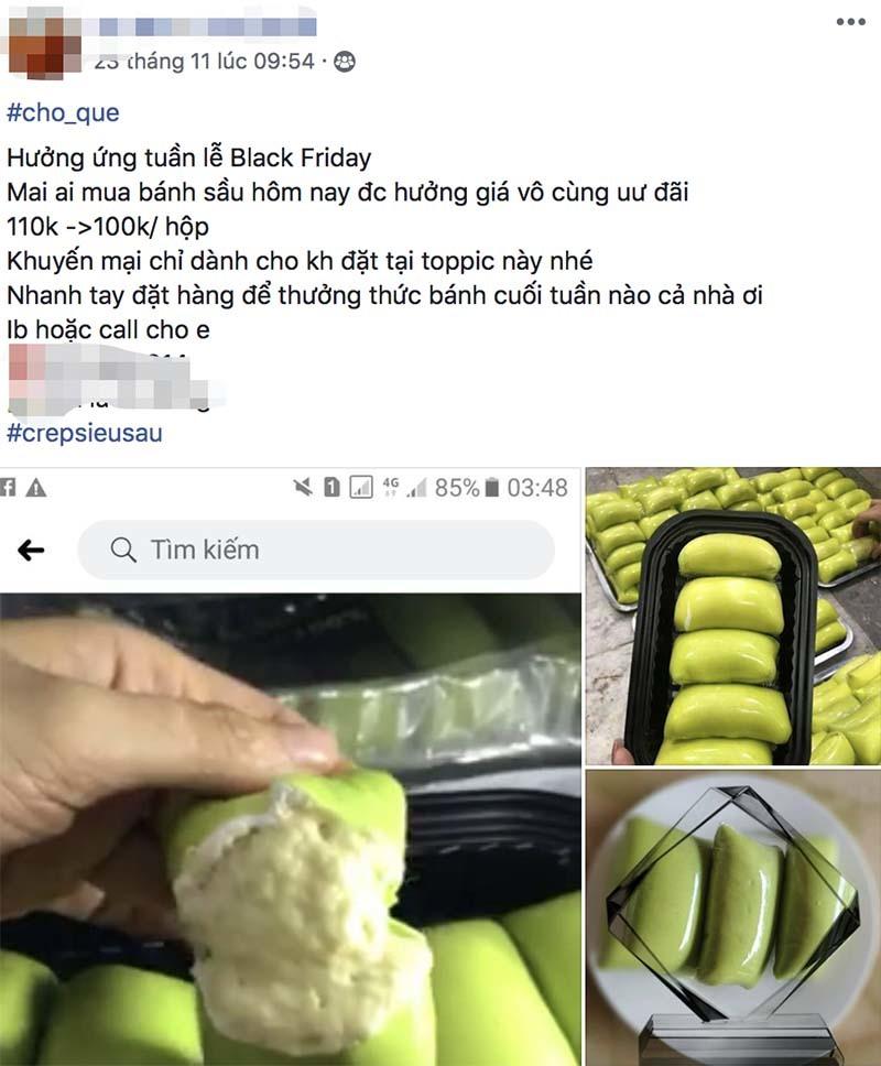 Chỉ có ở Việt Nam, hàng bánh vỉa hè tưng bừng Black Friday-2