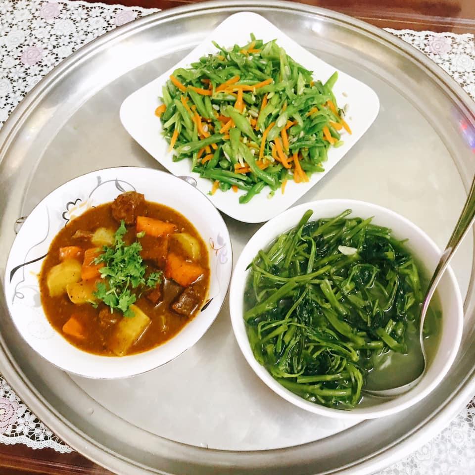 Mâm cơm gái Nghệ An nấu cho 5 người chưa tới 100k vẫn đề huề khiến chồng khen nở mũi-5