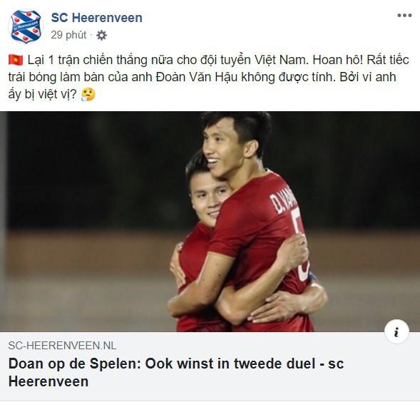 Heerenveen chúc mừng Văn Hậu bằng tiếng Việt khiến fan thích thú-1