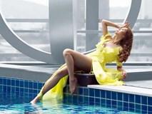 'Gái nhảy' Minh Thư thả dáng gợi cảm bên hồ bơi