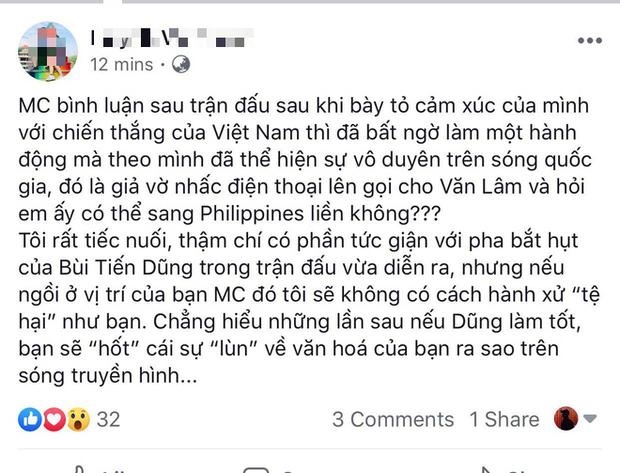 Fan phẫn nộ khi BTV Quốc Khánh troll Bùi Tiến Dũng bằng cách... gọi điện cho Văn Lâm sang bắt SEA Games-1