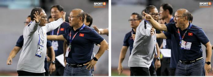 Hình ảnh vừa buồn cười, vừa thương khi bác sĩ của U22 Việt Nam hối hả tiếp nước cho cầu thủ ở trận thắng Indonesia-8