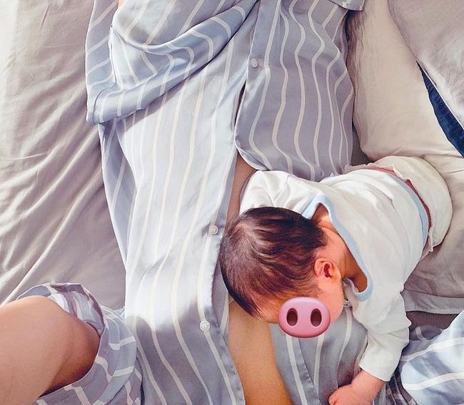 Lan Khuê lần đầu khoe ảnh con trai mới sinh nhưng vòng eo và khuôn ngực lại gây chú ý hơn-1