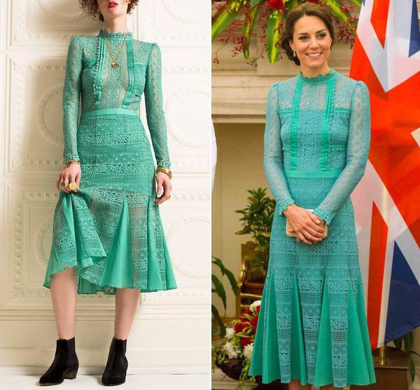 Để không hớ hênh khi mặc váy hở ngực, Công nương Kate khéo léo chỉnh sửa lại thiết kế trước khi diện-6