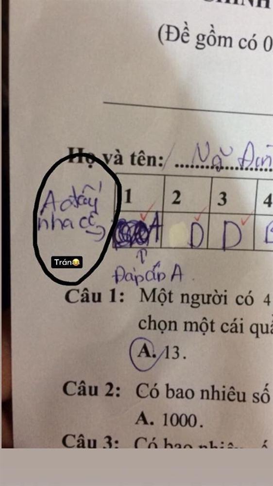 Sửa đi sửa lại đáp án vẫn phải ghi 2 câu chú thích trong bài kiểm tra, nam sinh bị mắng vốn: Biểu hiện của sự lươn lẹo-2