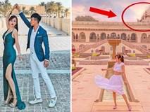 """Loạt hình du lịch Ấn Độ của vợ chồng Minh Nhựa lại bị dân tình soi ra dùng app ghép mây trời - cánh chim, chỉnh màu thì quá """"gắt"""""""