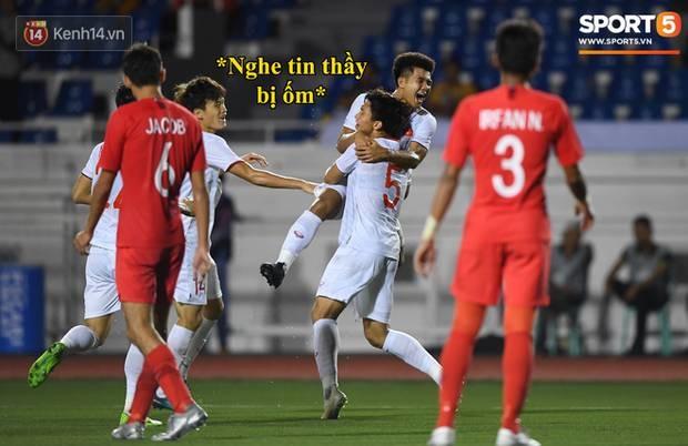 Loạt ảnh chế đội tuyển Việt Nam nở rộ sau trận gặp Singapore: Quang Hải, Chinh Đen cùng loạt biểu cảm không thể nào đắt giá hơn!-2