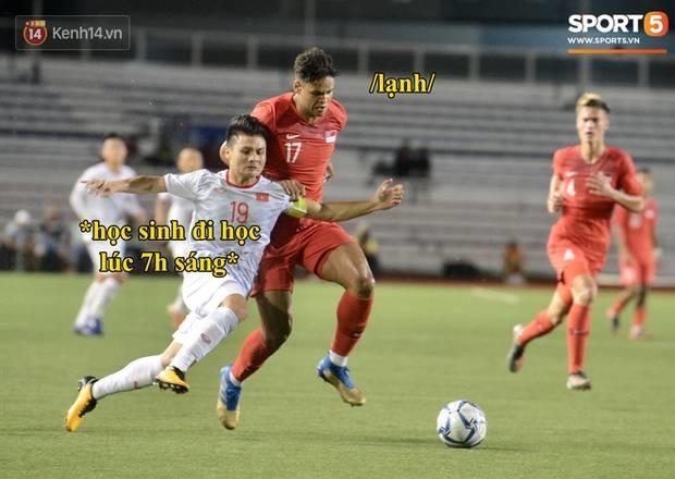 Loạt ảnh chế đội tuyển Việt Nam nở rộ sau trận gặp Singapore: Quang Hải, Chinh Đen cùng loạt biểu cảm không thể nào đắt giá hơn!-4