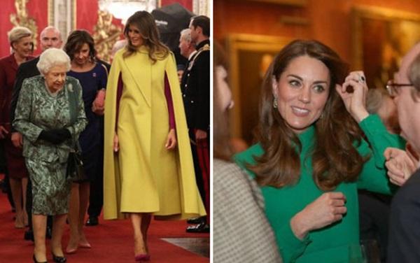 """Diện váy 30 triệu đồng, Công nương Kate cân"""" cả Hoàng gia Anh, đọ sắc với Đệ nhất phu nhân Mỹ-8"""