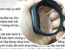 """Hà Nội: Khách hàng bức xúc vì shop yêu cầu """"tìm lại vỏ hộp"""" khi đi bảo hành vòng đeo tay thông minh bị lỗi"""