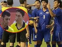 Cầu thủ Thái Lan quát trọng tài: