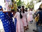 Đội bê tráp mặc trang phục võ thuật trong đám hỏi xứ Nghệ gây sốt-6