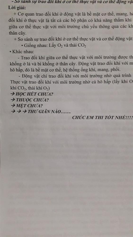 Đang làm bài kiểm tra đọc được lời nhắn nhủ của thầy giáo, học sinh chưa kịp vui thì chưng hửng vì pha troll cực mạnh-2
