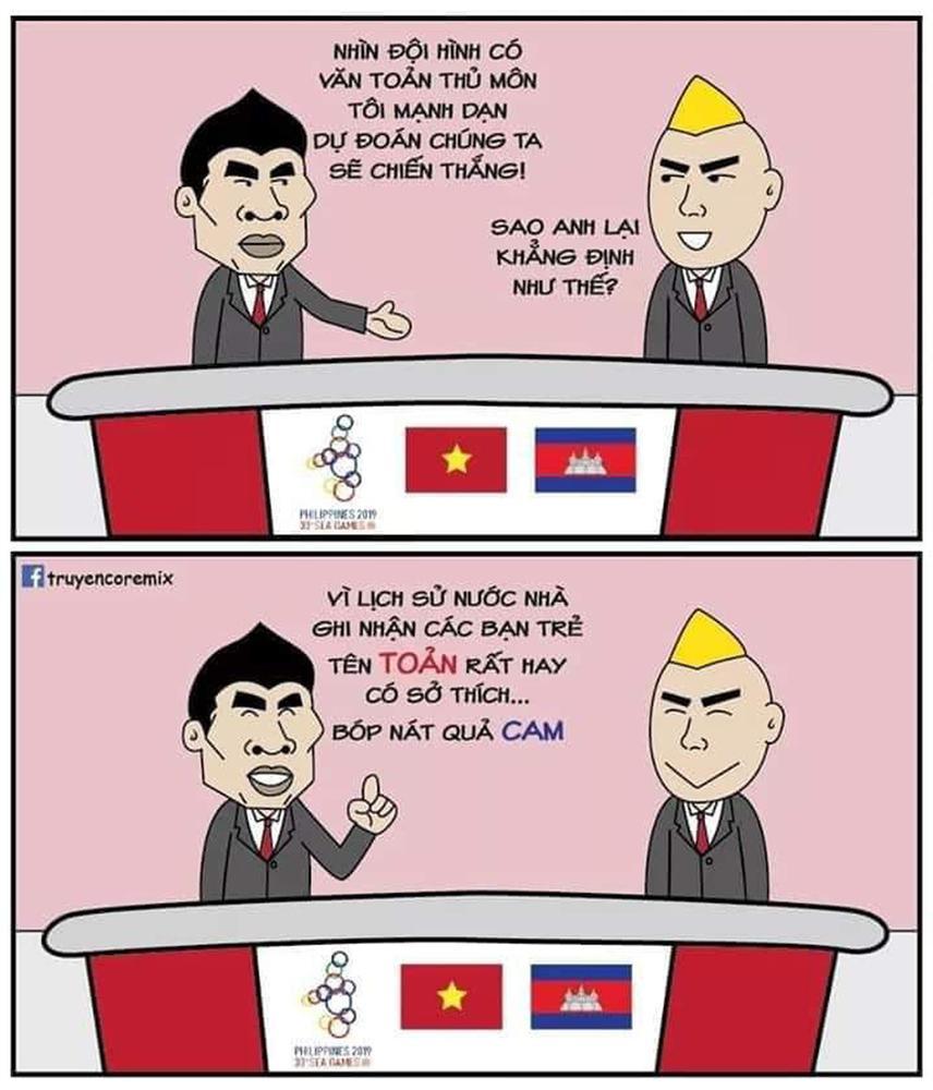 Cười bể bụng xem ảnh chế Đức Chinh nhấc bổng Campuchia-8