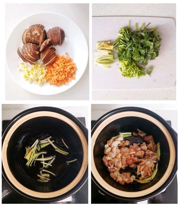Tuần nào tôi cũng phải nấu một nồi cháo gà nấm vì vừa ngon vừa bổ, mùa đông ăn hợp vô cùng-2