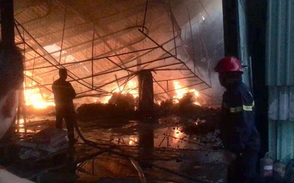 Đốt rác, công ty gỗ rộng hàng ngàn m2 trong khu công nghiệp bị thiêu rụi lúc rạng sáng-1
