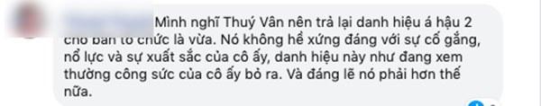 Tân Hoa hậu Khánh Vân bị chê không xứng đáng vì trả lời nhạt nhẽo, fan hâm mộ khẳng định Á hậu 2 Thúy Vân bị chèn ép?-4