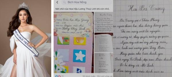 Chữ viết tay đỉnh như đánh máy của dàn Hoa hậu Việt: Phạm Hương cũng phải chào thua trước Nguyễn Trần Khánh Vân và Lương Thuỳ Linh-2