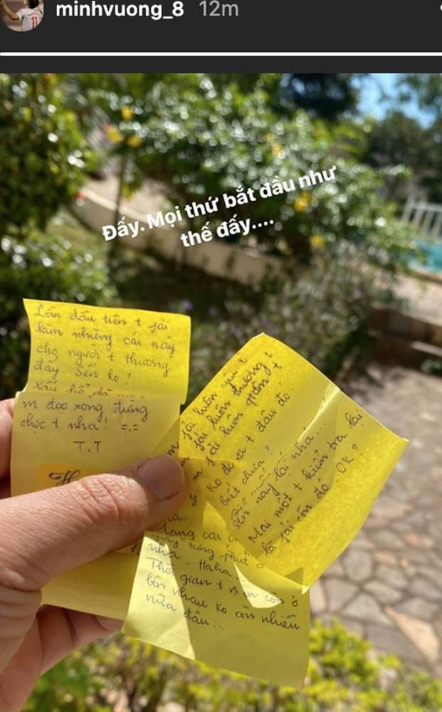 Một ngày nắng đẹp, Minh Vương hạnh phúc khoe thư tình của bạn gái xinh đẹp-1