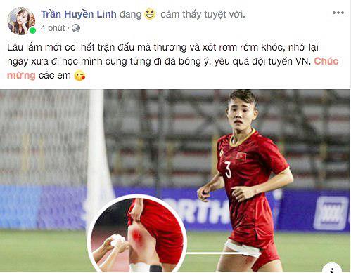 Cộng đồng mạng vỡ òa trước chiến thắng quá tuyệt vời của đội tuyển quốc gia nữ Việt Nam, ai cũng khóc vì hạnh phúc tự hào-3