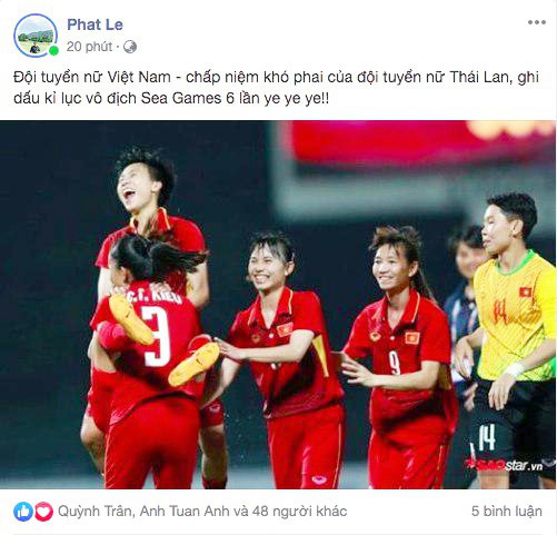 Cộng đồng mạng vỡ òa trước chiến thắng quá tuyệt vời của đội tuyển quốc gia nữ Việt Nam, ai cũng khóc vì hạnh phúc tự hào-5