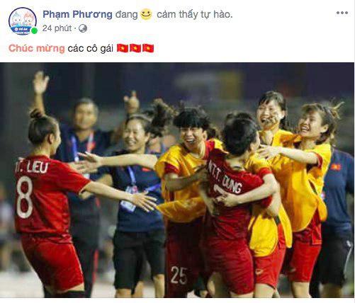 Cộng đồng mạng vỡ òa trước chiến thắng quá tuyệt vời của đội tuyển quốc gia nữ Việt Nam, ai cũng khóc vì hạnh phúc tự hào-9