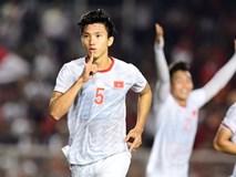 U22 Việt Nam vs Indonesia (1-0, hết H1): Đoàn Văn Hậu đánh đầu ghi bàn