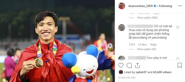 Đăng ảnh ăn mừng chiến thắng trên Instagram, Đoàn Văn Hậu bị cổ động viên Indonesia tràn vào bình luận miệt thị, xúc phạm nặng nề-6