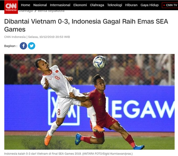 Một loạt trang tin nước ngoài ca ngợi chiến thắng của U22 Việt Nam, gọi Đoàn Văn Hậu là cơn ác mộng của Indonesia-1