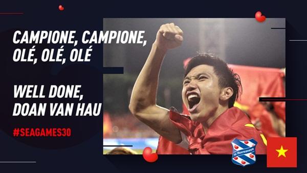 Góc tự hào: CLB của Đoàn Văn Hậu ở Hà Lan gửi lời chúc mừng U22 Việt Nam giành chiến thắng tại SEA Games 30 bằng tiếng Việt: Vô địch! Chúc mừng!-6
