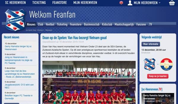 Góc tự hào: CLB của Đoàn Văn Hậu ở Hà Lan gửi lời chúc mừng U22 Việt Nam giành chiến thắng tại SEA Games 30 bằng tiếng Việt: Vô địch! Chúc mừng!-7