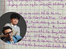 Con trai Hứa Minh Đạt - Lâm Vỹ Dạ làm bài văn tả bố thật như đếm với