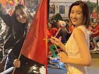 Đẳng cấp nhan sắc của dàn Hoa hậu Vbiz 'đi bão': Không váy áo lụa là, cầm cờ đỏ sao vàng thôi đã xinh xuất sắc