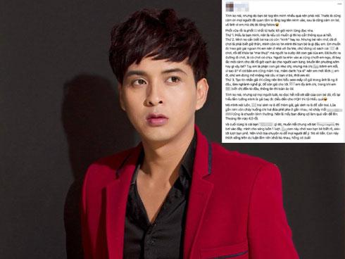 Mang tiếng bênh vực nhưng bạn thân Hồ Quang Hiếu lại gián tiếp thừa nhận bê bối của nam ca sĩ là có thật