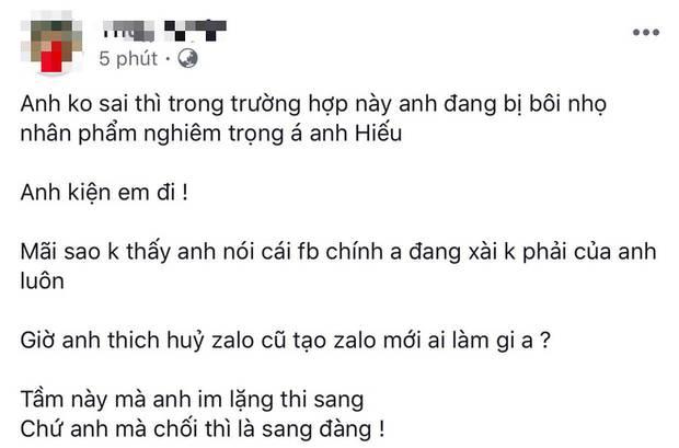 Hồ Quang Hiếu vừa phủ nhận ồn ào tình ái, nữ chính lên tiếng: Anh đang bị bôi nhọ nghiêm trọng đó, kiện tôi đi-1
