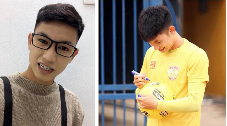 Trọng Hùng - visual mới của U22 Việt Nam lon ton đi xin cup vàng bằng giấy của fan: Đáng yêu quá là không được à nha-2