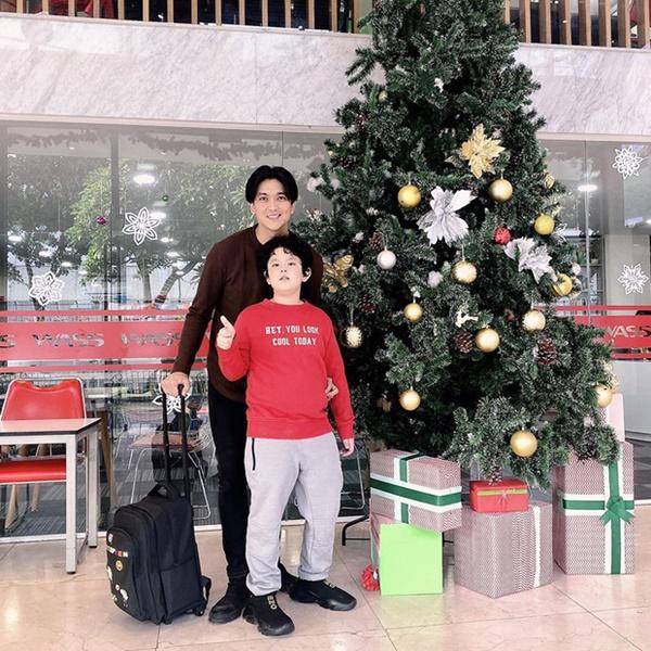Con trai Tim - Trương Quỳnh Anh gây ngỡ ngàng với ngoại hình lớn khó tin, mới lên 8 đã cao ngang ngửa bố-1