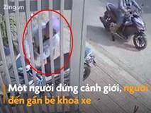 Nam thanh niên trộm xe bất thành vì bị chó rượt