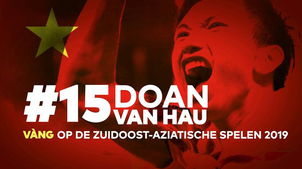 Lễ tôn vinh Văn Hậu: Đội bóng Hà Lan chiếu 2 bàn thắng của chàng trai Việt Nam ở chung kết SEA Games 30 cho khán giả theo dõi trên màn hình lớn-2