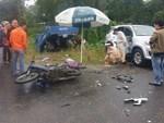 Tai nạn nghiêm trọng, ô tô con đâm 3 nữ công nhân thương vong ở Phú Thọ-3