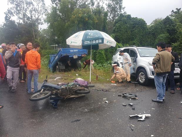 Nam sinh lớp 7 chết thảm trên đường đi học, cha và em nguy kịch sau tai nạn liên hoàn-1