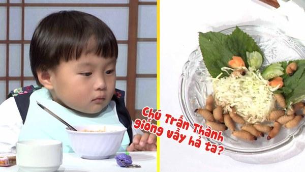 Quỳnh Trần JP réo tên Trấn Thành ngay trong lần đầu ăn thử đuông dừa trên truyền hình, loạt biểu cảm của bé Sa trước món này khiến fan cười ngất-7