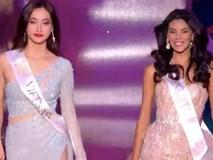 Lương Thùy Linh trình diễn trang phục dạ hội ở Miss World