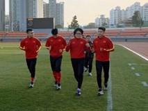 U23 Việt Nam tập buổi đầu tiên ở Hàn Quốc