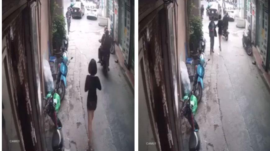 Clip: Người đàn ông sàm sỡ vòng 1 của cô gái trẻ đang đi bộ bên đường nhưng pha phản đòn của nạn nhân mới gây bất ngờ - ảnh 1
