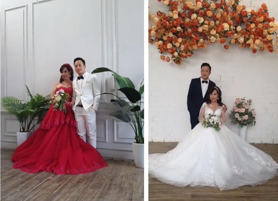 Sau khi tân trang nhan sắc, cô dâu 62 tuổi cùng chồng đi chụp lại ảnh cưới để... hâm nóng tình cảm-4