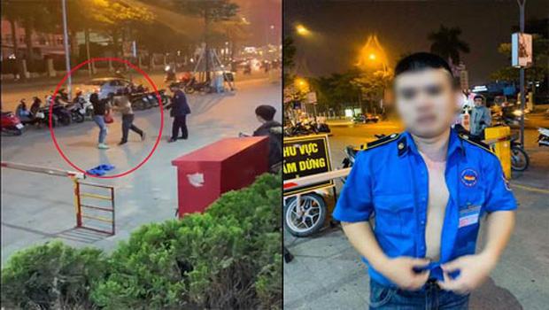 Người dân kể lại giây phút nam bảo vệ trung tâm thương mại cởi trần đấm liên tiếp vào một người phụ nữ giữa phố-5
