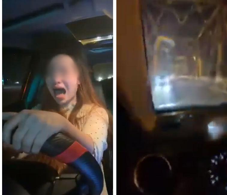 Người phụ nữ say xỉn livestream lái ô tô, liên tục gào thét, đánh võng còn lớn tiếng thách thức: Công an chặn xe là đâm chết luôn-1