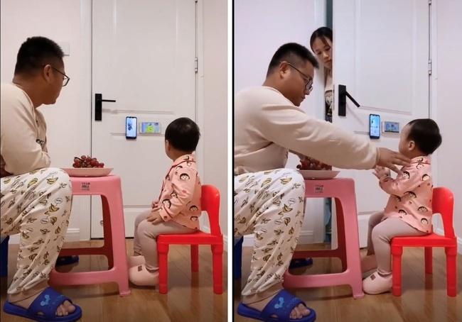 """Pha thông đồng"""" đỉnh cao của năm: Bố và con gái lén lút xem điện thoại, mẹ rình bao lần vẫn không thể bắt quả tang-1"""